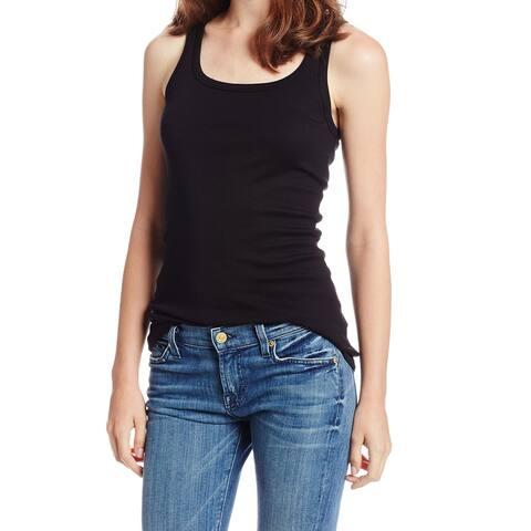 Splendid Women's Black Size XXL Plus Scoop Neck Slim Fit Tank Cami Top