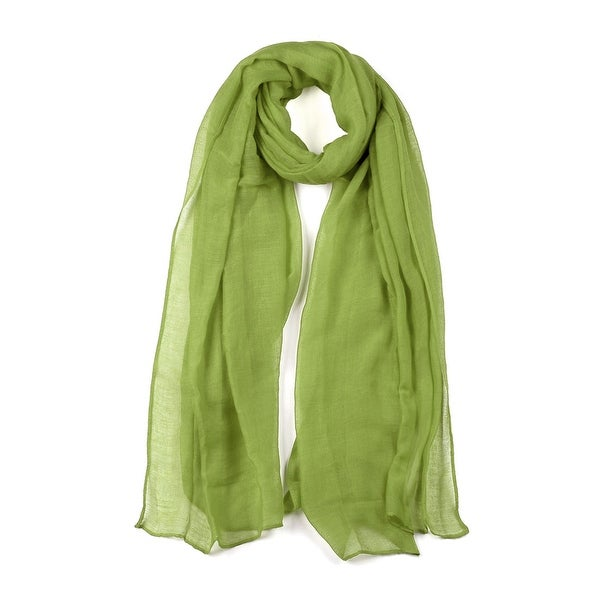 Long Warm Shawl Large Soft Solid Color Scarf for Women Men Light Green-2