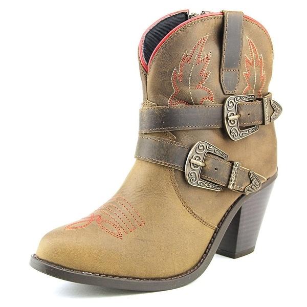 Dingo Bridget Women Round Toe Leather Western Boot