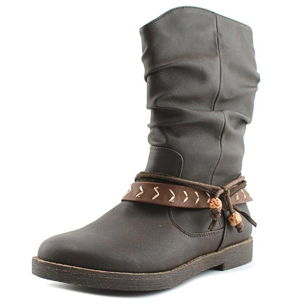 Sugar Root Round Toe Synthetic Mid Calf Boot