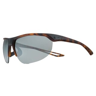 Nike Mens Cross Trainer Matte Tortoise with Grey Silver Flash Lens Sunglasses