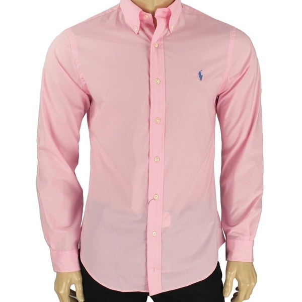 fdf4930c Shop Ralph Lauren NEW Bright Pink Mens Size XL Button Down Slim-Fit Shirt -  Free Shipping Today - Overstock - 21474892