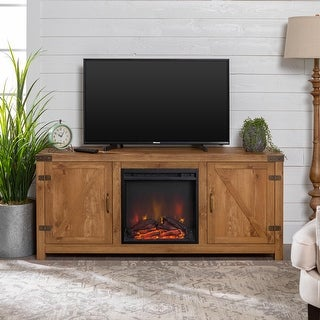 Link to The Gray Barn Firebranch 58-inch Barn Door Fireplace TV Console Similar Items in Living Room Furniture