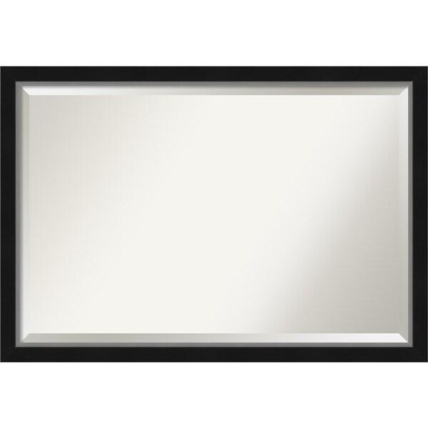 Porch & Den Katherine Black Silver Narrow Bathroom Vanity Wall Mirror. Opens flyout.