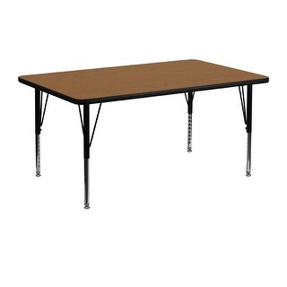 Offex 24''W x 48''L Rectangular Activity Table with Oak Thermal Fused Laminate Top and Height Adjustable Pre-School Legs|https://ak1.ostkcdn.com/images/products/is/images/direct/f1ae8499bad981c5fba0421ccb7e4e59422d6eac/Offex-24%27%27W-x-48%27%27L-Rectangular-Activity-Table-with-Oak-Thermal-Fused-Laminate-Top-and-Height-Adjustable-Pre-School-Legs.jpg?_ostk_perf_=percv&impolicy=medium