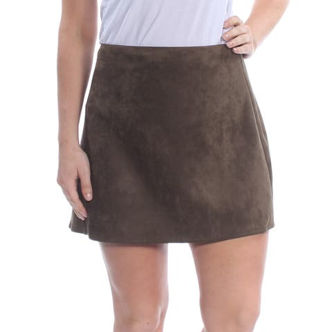 FRENCH CONNECTION Womens Green Mini Skirt Size: 12