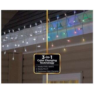 Celebrations 78856-71 Christmas Icicle LED Mini Light Set, 12.5' L