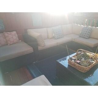 Shop Costway 4pcs Wicker Cushioned Patio Rattan Furniture