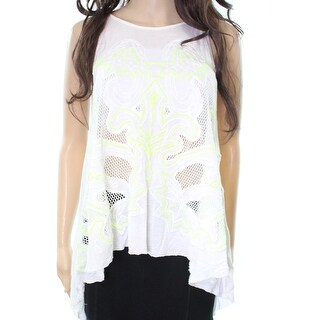 Free People NEW White Embroidered Women's Size XS Tank Cami Cotton