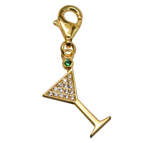 Julieta Jewelry Martini Glass Clip-On Charm
