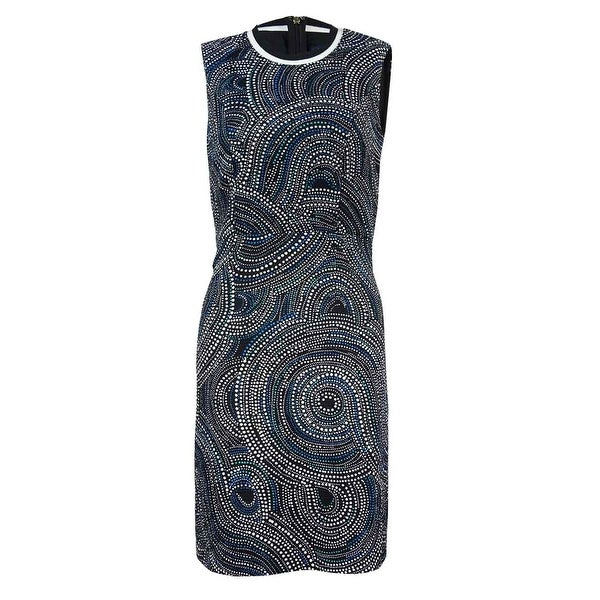 Tommy Hilfiger Women's Sleeveless Printed Texture Dress. Opens flyout.