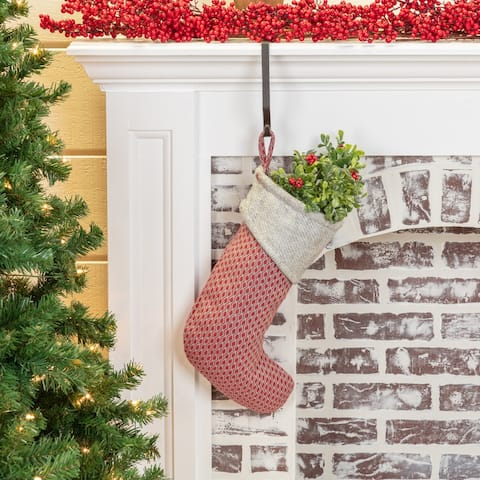 Tannen Red & Gray Christmas Stocking