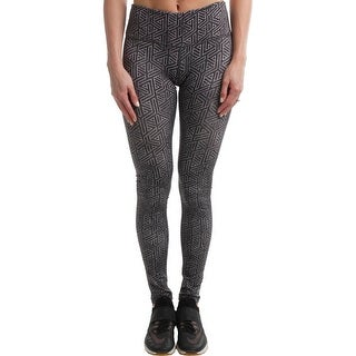 Reebok Womens Modular Athletic Leggings Yoga Fitness