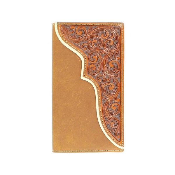 Nocona Western Wallet Mens Rodeo Tooled Leather Rich Earth - One size