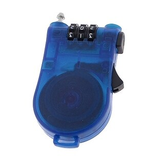 Unique Bargains Jewelry Box Suitcase Blue Plastic 3 Digits Combination Password Lock