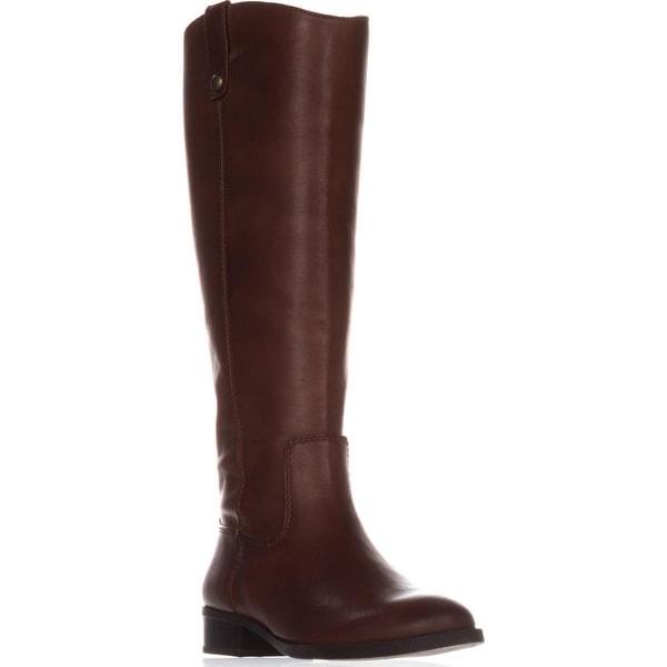I35 Fawne Flat Riding Boots, Cognac