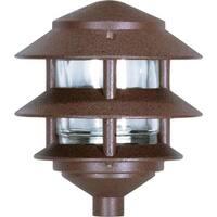 "Nuvo Lighting 76/632 Single Light 8"" Two Louver Pathway Light with Small Hood"