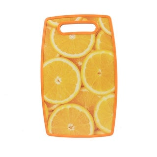 Orange Pattern Fruit Vegetable Meat Food Cutting Chopping Table Mats Board