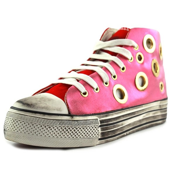 #07 Project By Mario Pin Rosa Women Round Toe Canvas Pink Sneakers
