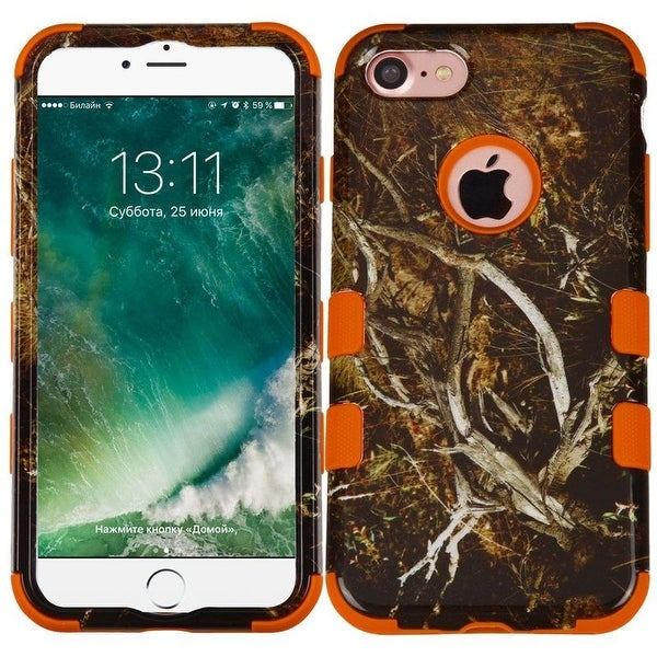 Insten Vines Tuff Hard PC/ Silicone Dual Layer Hybrid Rubberized Matte Case Cover For Apple iPhone 7