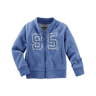 OshKosh B'gosh Little Girls' French Terry Bomber Jacket - 2-Toddler