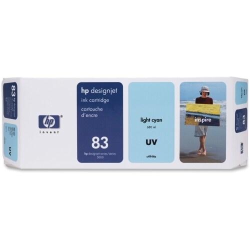 HP 83 680-ml Light Cyan DesignJet UV Ink Cartridge (C4944A) (Single Pack)