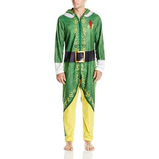 Warner Brothers Buddy the Elf Men's Hooded Uniform Union Suit