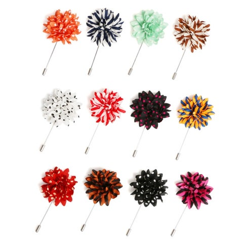 Men's Flower Lapel Pin Boutonniere For Suit