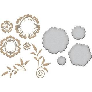 Spellbinders Glimmer Impression Plate-Foil Flowers