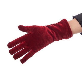 Snow Angel Shirred Velvet Gloves with Thinsulate Lining