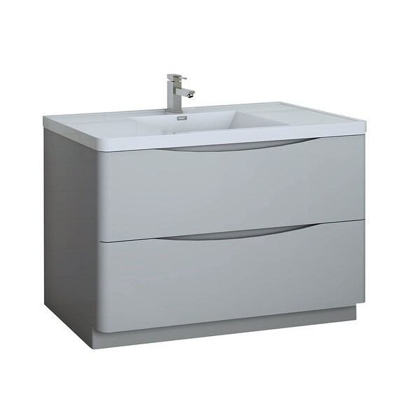 """Fresca FCB9148-I Senza 48"""" Free Standing Single Basin Vanity Set with MDF Cabinet and Acrylic Vanity Top"""