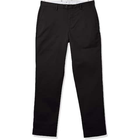 Calvin Klein Men's Refined Stretch Chino Classic Fit Pant, Black, 36W x 30L