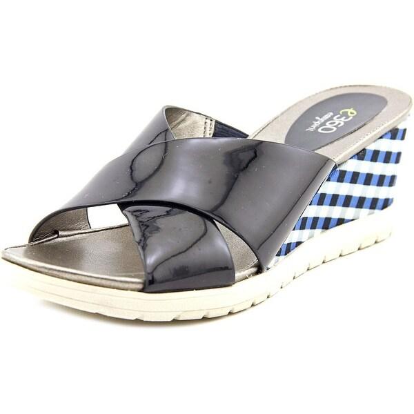 Easy Spirit e360 Hartlyn   Open Toe Patent Leather  Slides Sandal