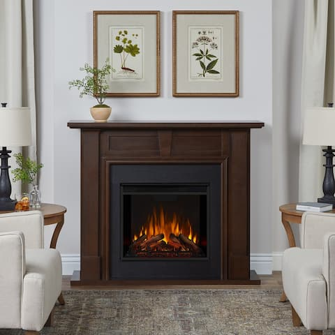 Granby Electric Fireplace in Dark Walnut