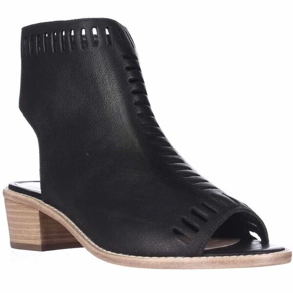 46e5097d1e6 Shop Loeffler Randall Mercy Peep Toe Bootie Sandals, Black - On Sale ...