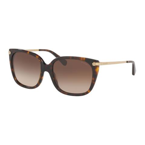 Coach HC8272 512013 56 Dark Tortoise Woman Square Sunglasses