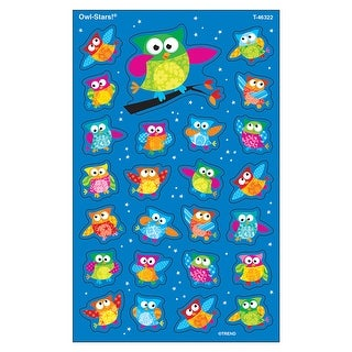 Owl Stars Supershapes Stickers