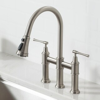 Link to Kraus KPF-3121 Allyn Bridge Kitchen Faucet w/ Pull-Down Sprayhead Similar Items in Faucets