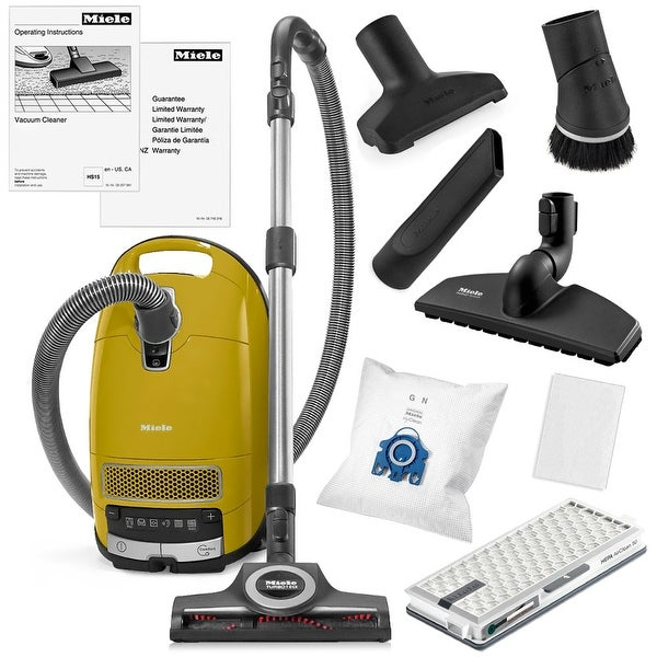 Miele Complete C3 Calima Canister Vacuum Cleaner + STB 305-3 Turbobrush + SBB-300 Parquet Floor Brush + More