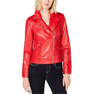 Link to I-N-C Womens Faux Leather Motorcycle Jacket Similar Items in Women's Outerwear