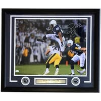 Saquon Barkley Signed Framed 16x20 Penn State vs Iowa Photo JSA Signature Debut