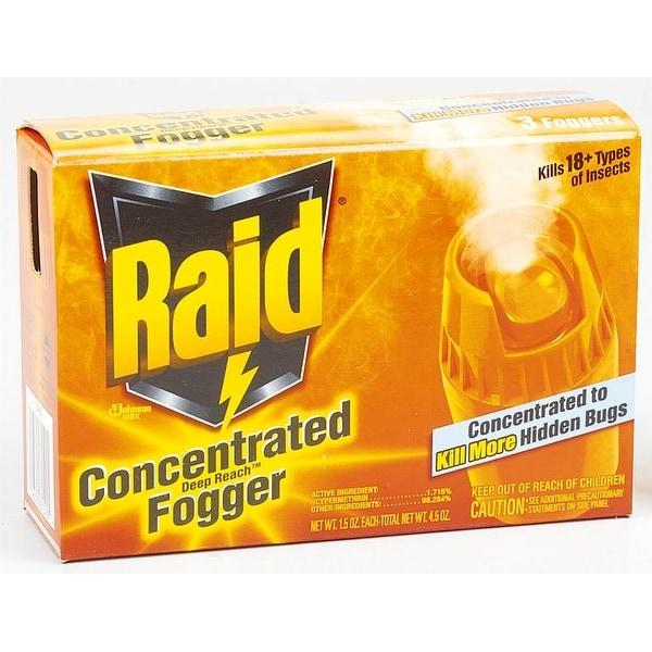 Raid 81590 Deep Reach Insect Fogger, 1.5 Oz, Box of 3