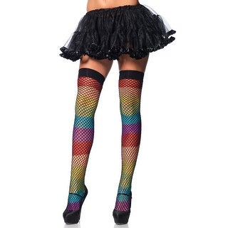 35392e0ed60 Shop Rainbow Fishnet Thigh Highs, Rainbow Thigh Highs - Multicolor - One  Size Fits Most - Free Shipping On Orders Over $45 - Overstock - 19113866