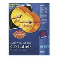 Consumer Products  Labels- CD- Inkjet Matte- 40-Labels- 80-Inserts-