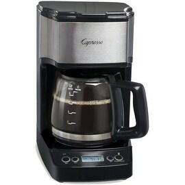 Capresso 426.05 5 Cup Mini Drip Coffeemaker, Black/Silver
