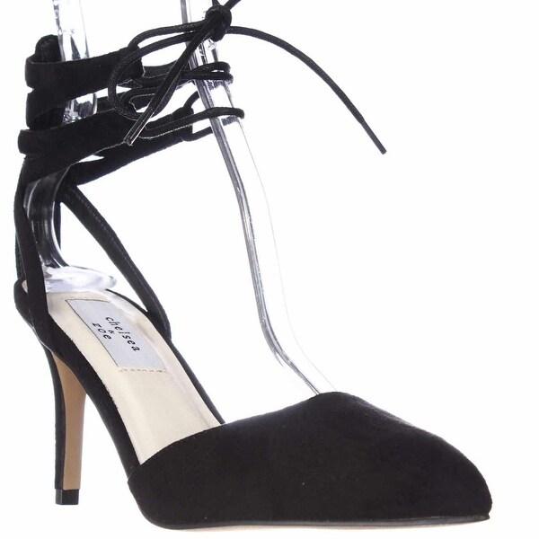 Chelsea & Zoe Kyle Lace Up Heels - Black, 6 US