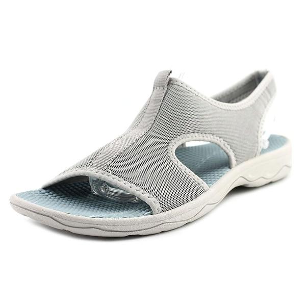 fb7ac11d96a Shop Easy Spirit Yamaste Women Open-Toe Canvas Gray Slingback Sandal ...