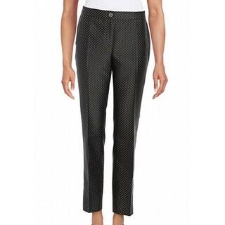 KARL LAGERFELD Paris NEW Black Women's Size 8 Jacquard Dot Dress Pants
