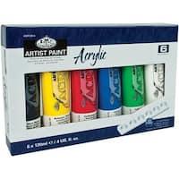 Acrylic Paints 120Ml 6/Pkg-Assorted Colors