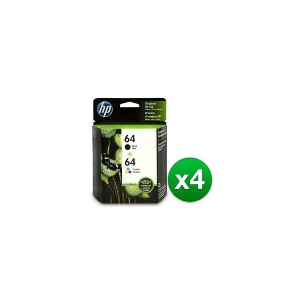 HP 64 Ink Cartridges - Black & Tri-Color (X4D92AN) (4-Pack)